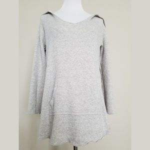 Calvin Klein Light Grey Front Pocket Tunic Hoodie